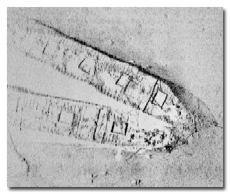 Side scan sonar image of the schooners Frank A. Palmer and Louise B. Crary captured during this survey
