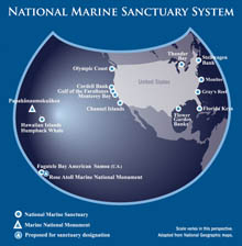 Map of the National Marine Sanctuary System